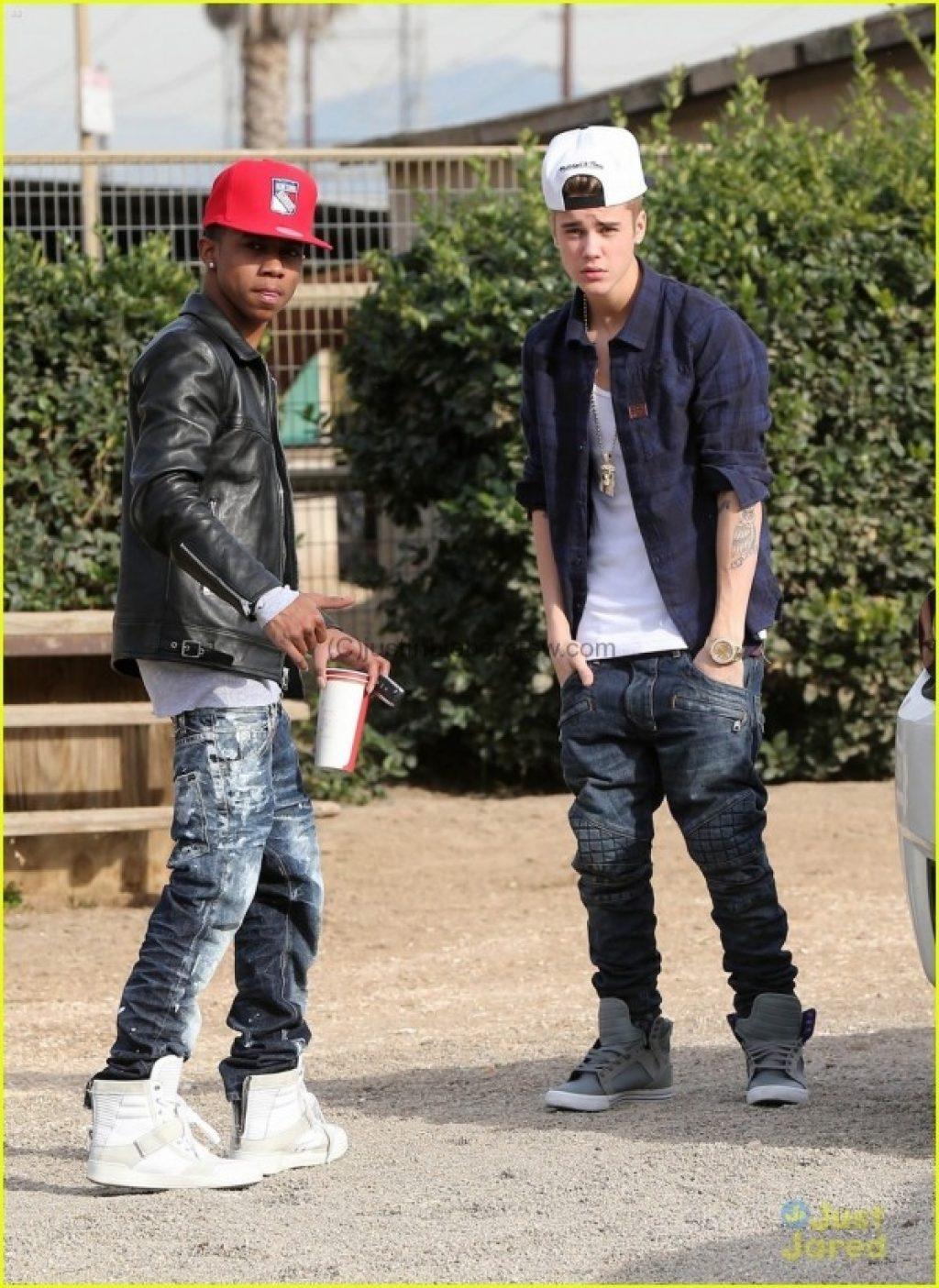 Echte Freunde? Lil Za und Justin Bieber c/o justinbiebercrew.com