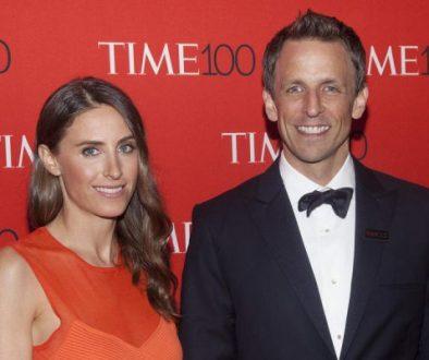 Seth Meyers Ehefrau gebärt Sohn Axel - in der Lobby ihres Apartments