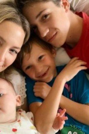 Kate Hudson feierte ihren 40. Geburtstag mit einer Party mit Freunden und veröffentlichte dann das erste Foto ihrer drei Kinder