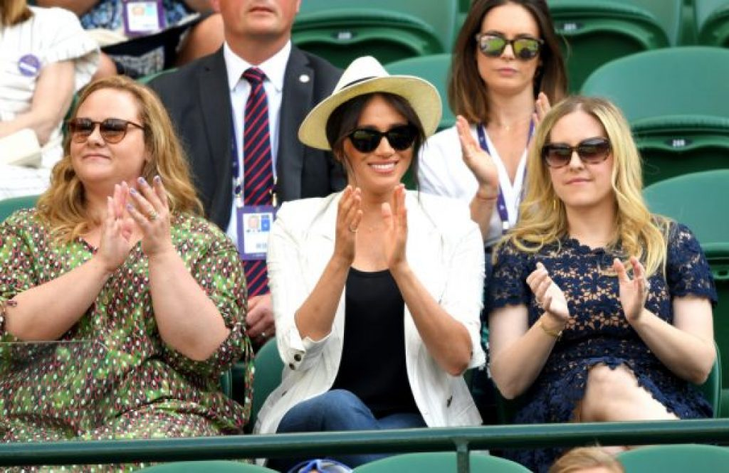 Meghan Markle kam nach Wimbledon, um Freundin Serena Williams zu unterstützen